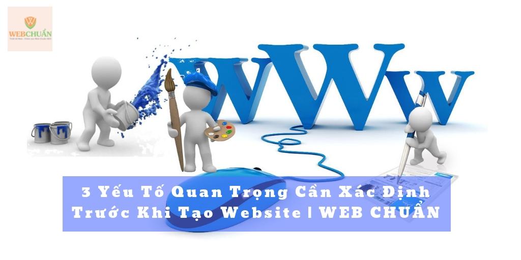 3 Yếu Tố Quan Trọng Cần Xác Định Trước Khi Tạo Website | WEB CHUẨN