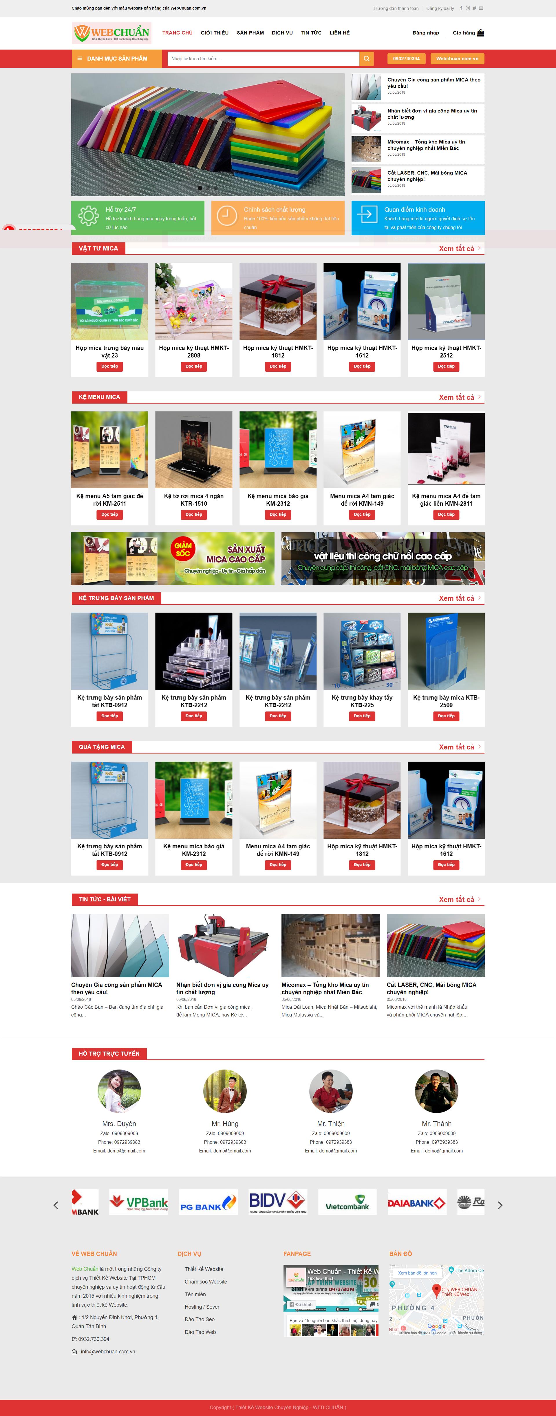 Mẫu Web Shop Bán Mica