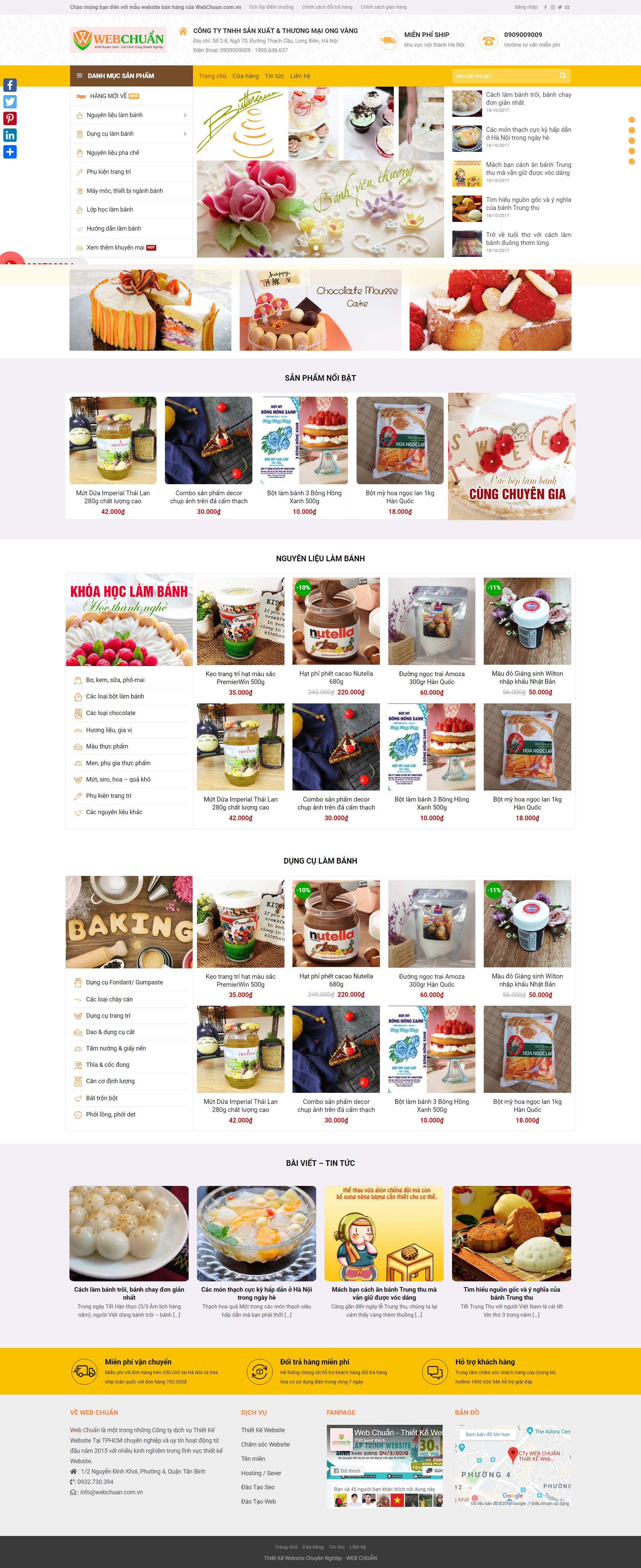 Mẫu Web Shop Bán Bánh