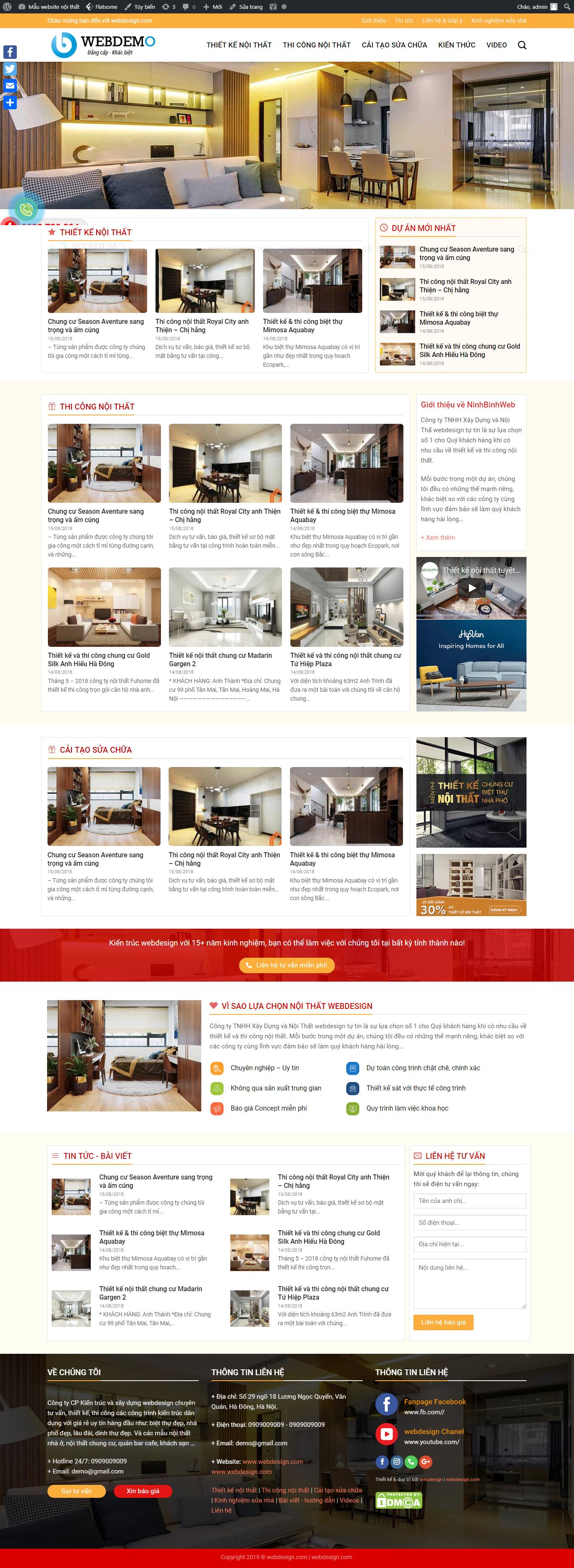 Mẫu web nội thất 5
